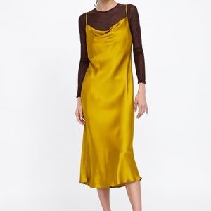 NWT Zara satin midi dress